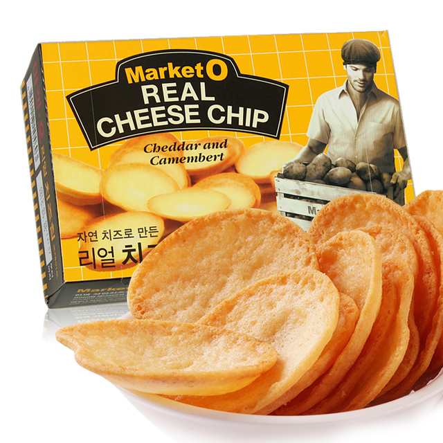 South Korea imported snacks Orion cheese grilled cheese crisps 62g Market O non fried potato