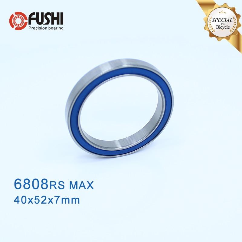 6808-2RSV MAX Bearing 40*52*7mm ( 1 PC ) Full Balls Bicycle Frame Pivot Repair Parts 6808 2RS RSV Ball Bearings 6808-2RS