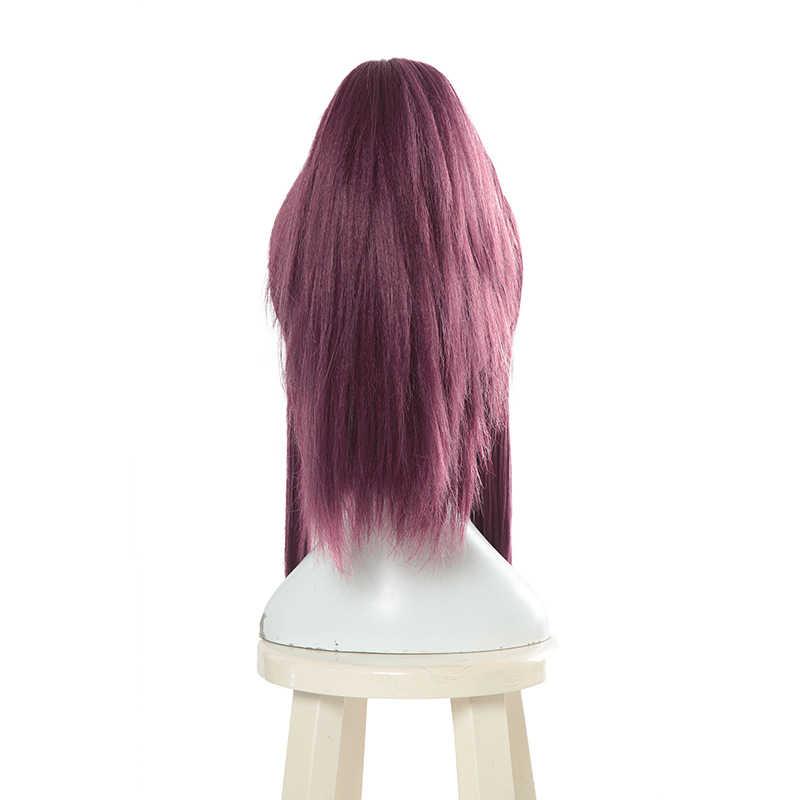 Парик L-email с персонажем игры LOL K/DA Akali Косплей парики KDA термостойкие синтетические волосы Perucas Косплей парик