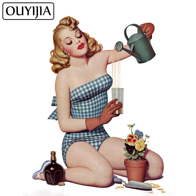 OUYIJIA Art Girl Diamond Painting Full Square Embroidery Mosaic Home Decoration 5D DIY Beauty Oil Cross Stitch Kit Cartoon