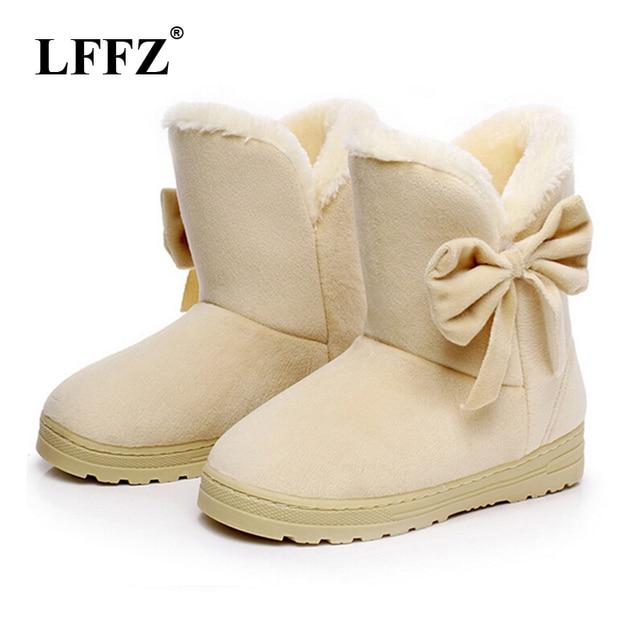 LFFZ 2018 Frauen Schnee Stiefel Nette Bowtie Warme Mode Schnee stiefel frauen winter schuhe schmetterling dropshipping fabrik Günstige ST217