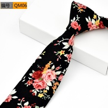 Mens New 6cm Classic Cotton Ties Fashion Retro Floral Colorful Printed Party Neck Pocket Square Cufflinks Set