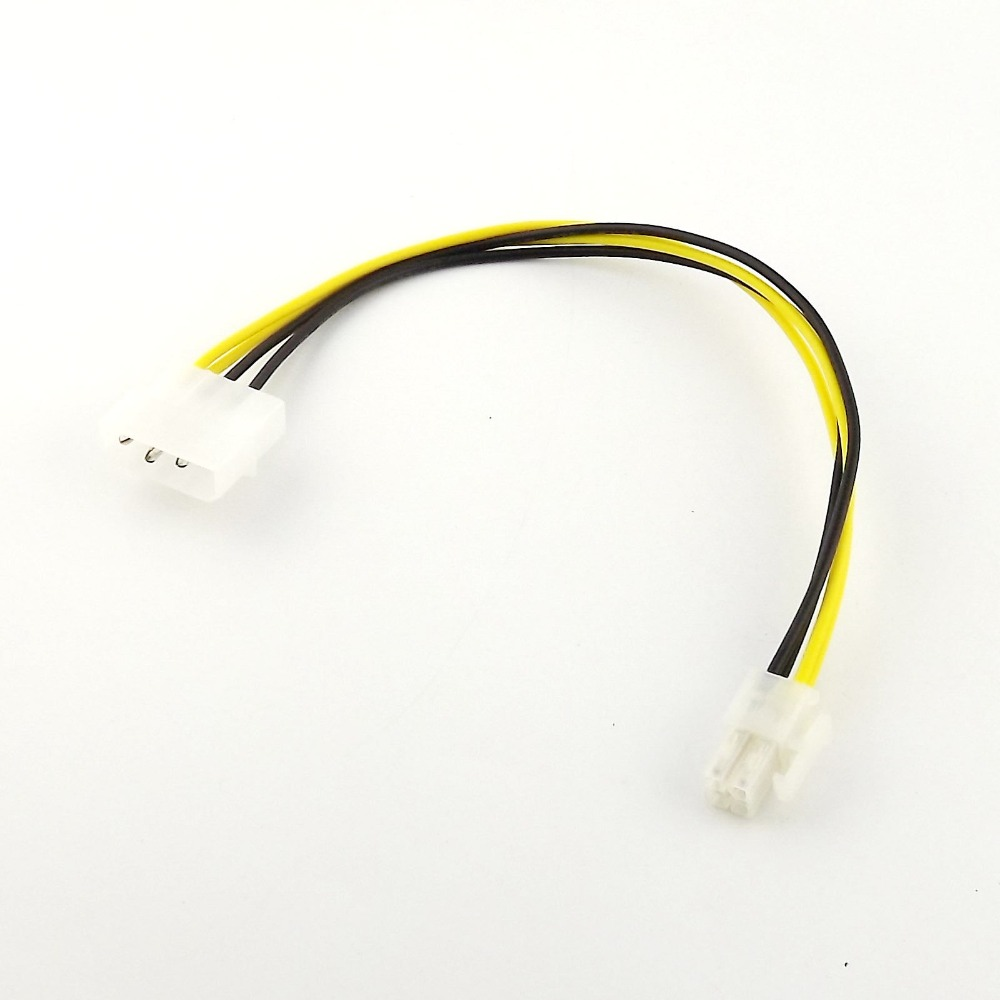 1pcs IDE 4 Pin Molex P3 To P4 12V ATX Power Motherboard PC Power Adapter Lead Cable