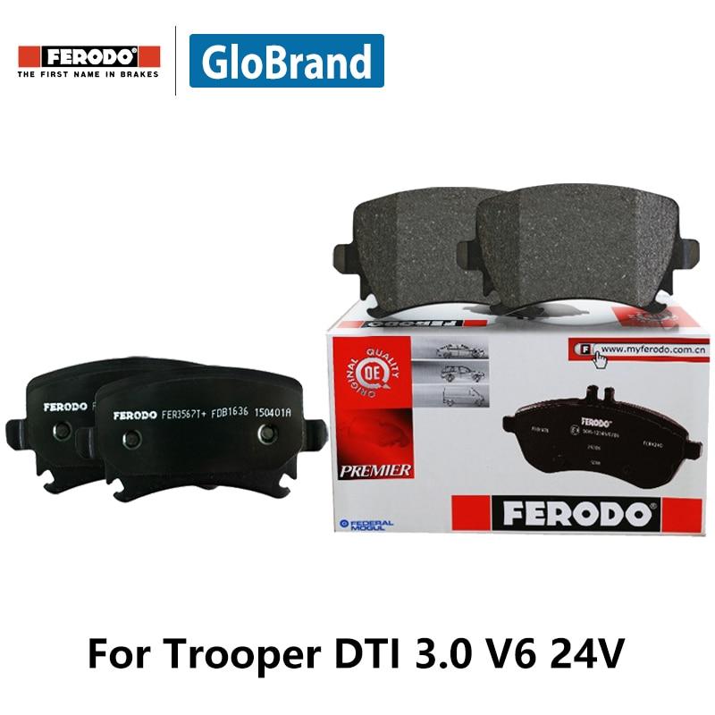 4pcs/lot Ferodo Front Car Brake Pads For Isuzu Trooper DTI 3.0 V6 24V FDB1015 2pcs lot ferodo car front brake disc for volkswagen polo 1 4 1 6 lavida bora golf 4 ddf929 d