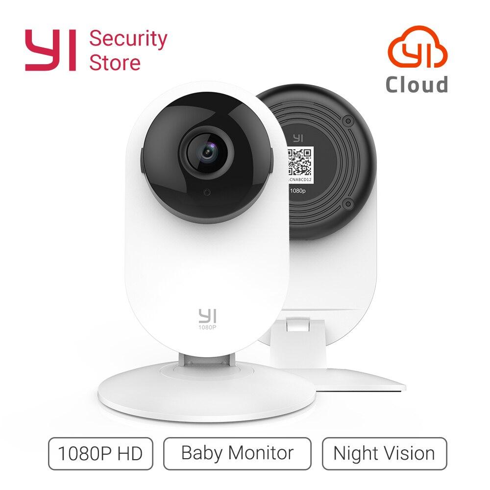 YI Home Cámara P 1080 p inalámbrico IP Wifi sistema de vigilancia de seguridad bebé Monitor visión nocturna nube versión internacional (EE. UU./UE)