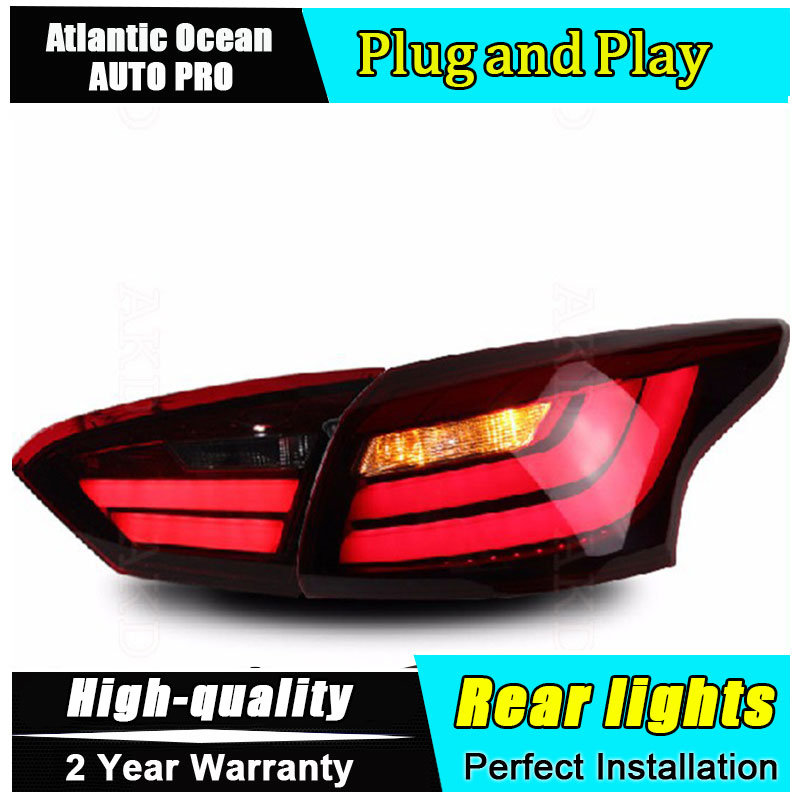 JGRT Car Styling for Ford Focus Taillights BMW Design 2012-2014 for Focus LED Tail Lamp Rear Lamp Fog Light For 1Pair ,4PCS boomboost 2 pcs car led for ford new focus 2012 2014 daytiime running lights car styling