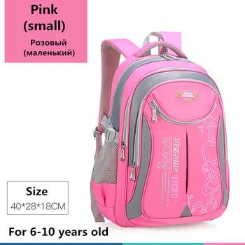 2020 hot new children school bags for teenagers boys girls big capacity school backpack waterproof satchel kids book bag mochila - Small-Pink