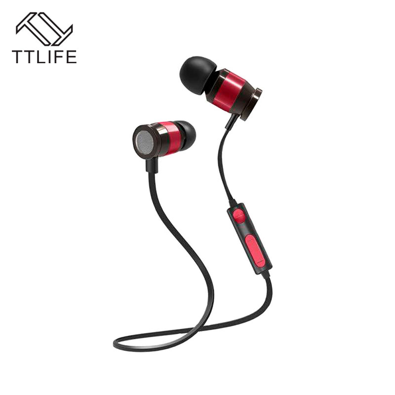 TTLIFE M1 Sport Bluetooth Headsets Magnetic Wireless Noise Cancelling Stereo Earphone with Mic Sweatproof Earbud for Xiaomi 2017 ttlife mini wireless earphone bluetooth headsets airpods with mic 2 in 1 with car charger for iphone 7 xiaomi mobile phones