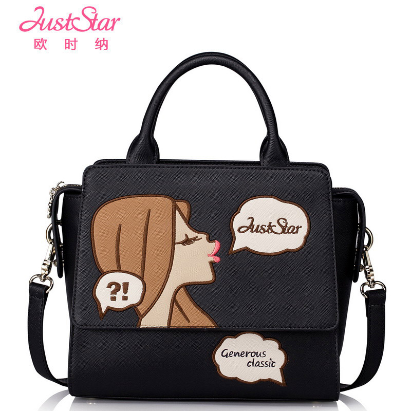 Just Star fashion women bag pu leather lady handbag shoulder bags small crossbody messenger bags