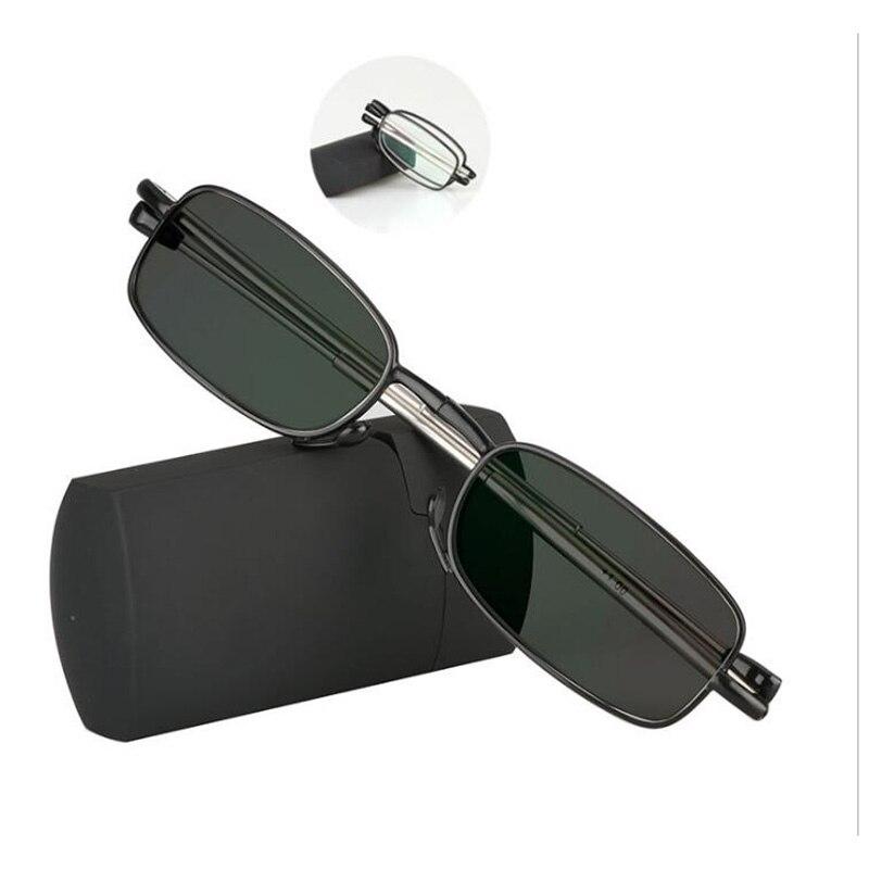 2018 Transição Photochromic Sol Portátil Das Mulheres Dos Homens de Óculos  Espetáculo Fino Mini Folding Óculos edcd39d079