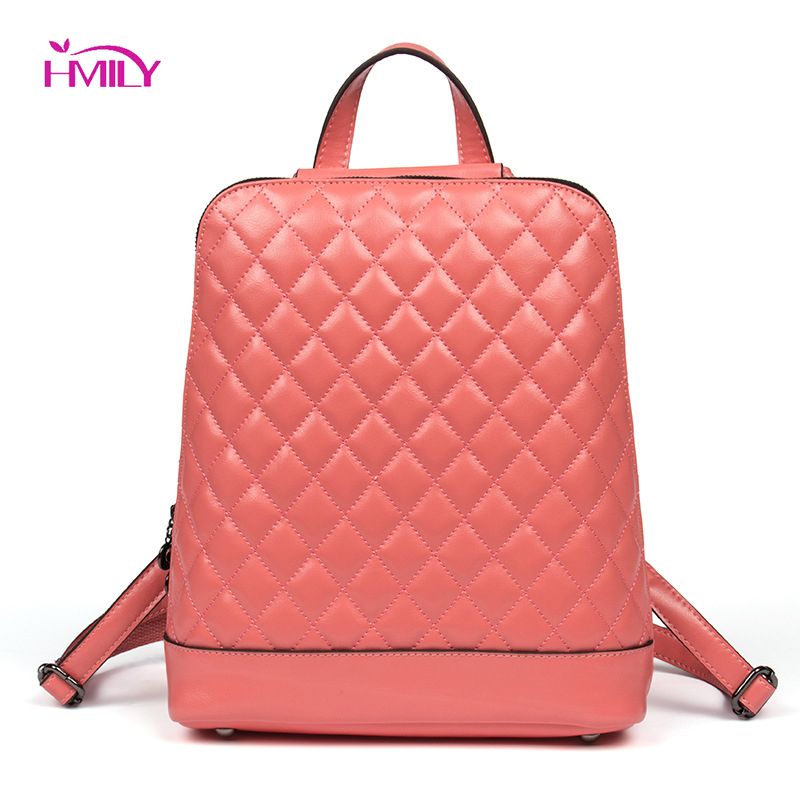 HMILY Fashion women's shoulder bag leather back pack college brand laptop Backpack female school bags for teenage girls augur 2018 brand men backpack waterproof 15inch laptop back teenage college dayback larger capacity travel bag pack for male