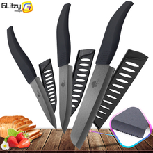 Ceramic Knife 4 5 6 inch Zirconia Black Blade Bread Serrated Knife Slicing Kitchen Knives Tools Colorful Handle Set of 3