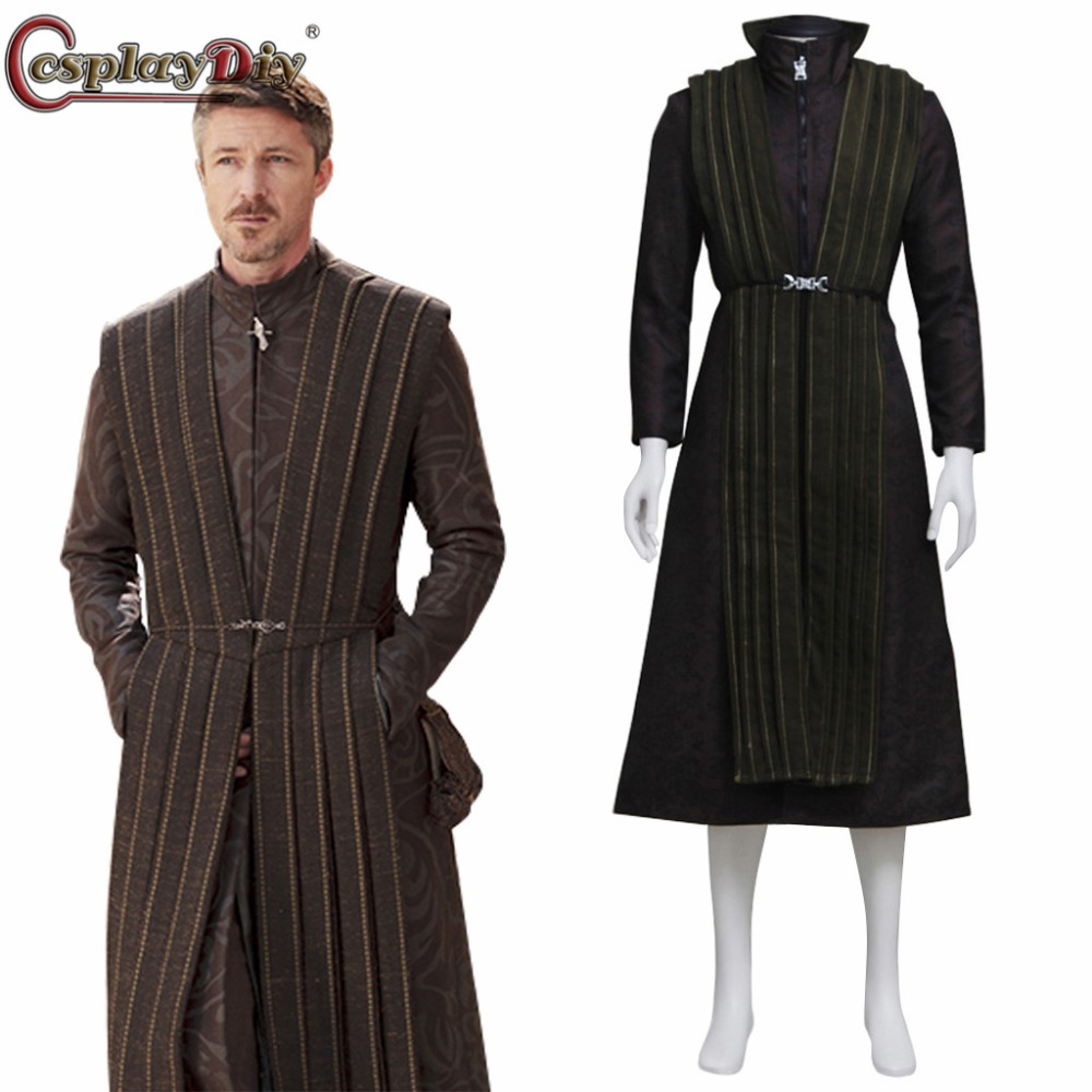 Cosplaydiy  Game of thrones Petyr Baelish Earl Costume Little Finger Cosplay Costume Adult Men Halloween Outfit Custom Made