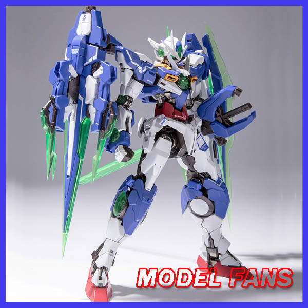 все цены на MODEL FANS IN-STOCK metal build fanmade MB 1/100 Gundam OOQ Quanta high quality metal made contain led light toy action figure онлайн