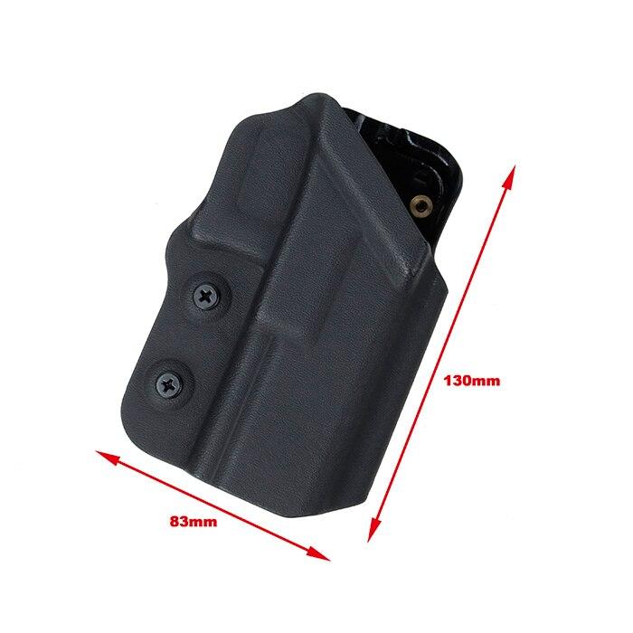 Kydex Tactical cinturón Clip Holster para G17 G18 G18C G19 Glock pistola pistolera (STG051209)