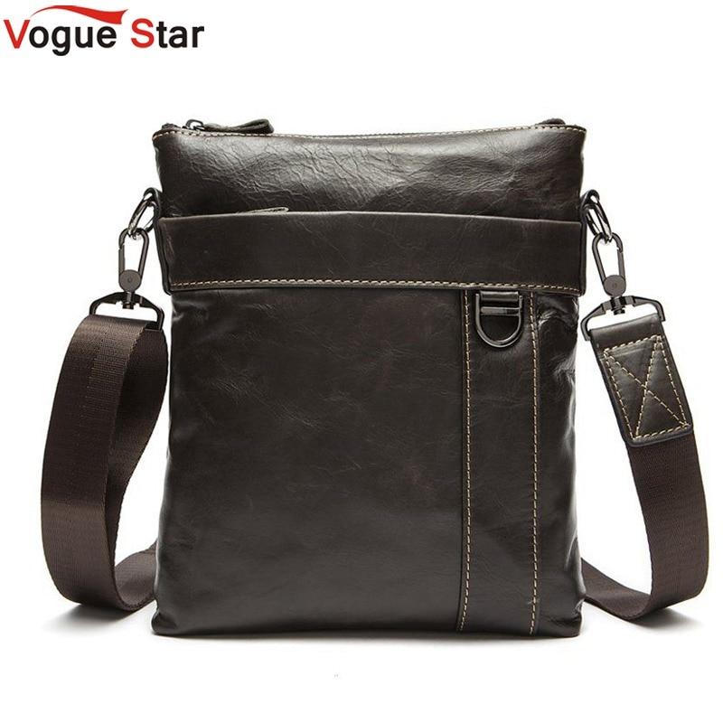 Vogue Star Genuine Leather Men Bags Hot Sale Male Small Messenger Bag Man Fashion Crossbody Shoulder