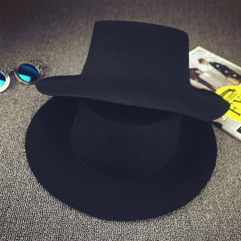 b20fa42d1a4 BIGBANG GD black fedora hats for men Pure Wool Large brim Winter red fedora  hat  HUB023 -in Fedoras from Apparel Accessories on Aliexpress.com