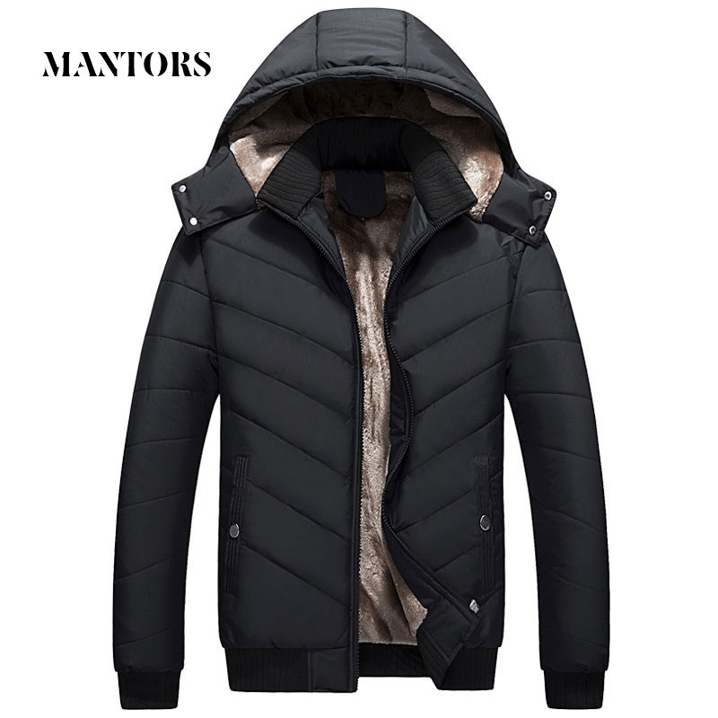 Winter Men Jacket Parka Warm Fleece Casual Hooded Coat Mens Cotton Slim Thick Down Jacket Male Zipper Outwears Casacos Masculino