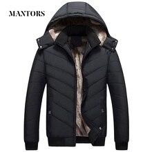 冬の男性のジャケットパーカー暖かいなフード付きコートメンズコットンスリム厚いダウンジャケット男性ジッパー Outwears Casacos Masculino