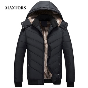 Image 1 - Winter Men Jacket Parka Warm Fleece Casual Hooded Coat Mens Cotton Slim Thick Down Jacket Male Zipper Outwears Casacos Masculino