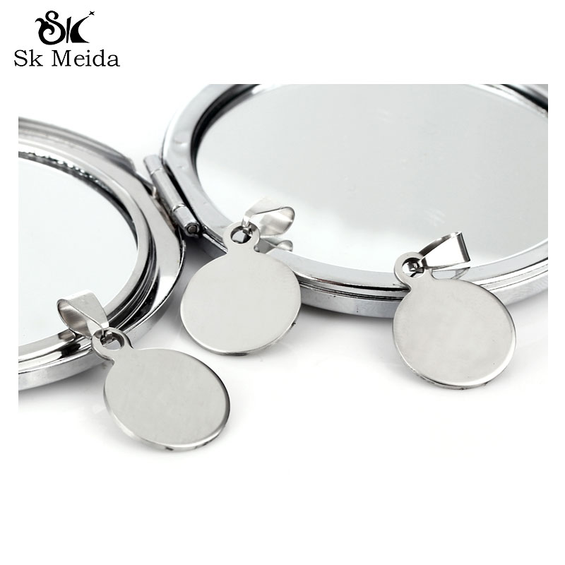 17mm Silver Plated Round Glue on Pad Pendant Bails 10Pcslot Charms Necklace Colgantes Pendientes AGP1