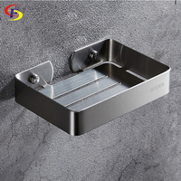 OFYAGE New Style Wall Mounted Bathroom Basin Soap Dish Colorful Stainless Steel Brushed Soap Holder Bathroom Accessories