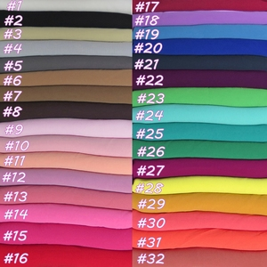 Image 2 - 150*150cm Square Bubble Chiffon Scarf Muslim Hijab Head Wrap Plain Solid Colors Large Size 10pcs/lot