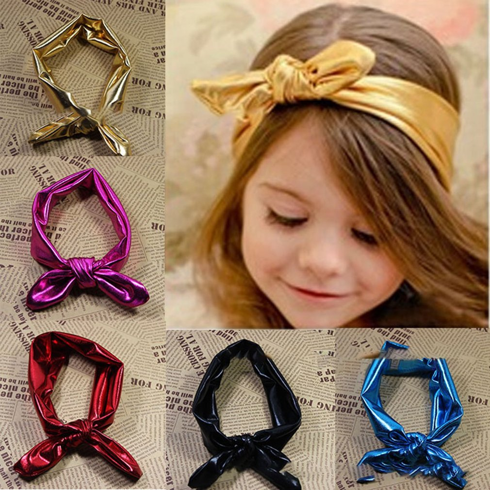 2018 Hot Baby Girls Rabbit Bow Ear Hairband Headband Turban Knot Tie Head Wraps For Girls Headwear Hair Accessories 5 Colors To Reduce Body Weight And Prolong Life