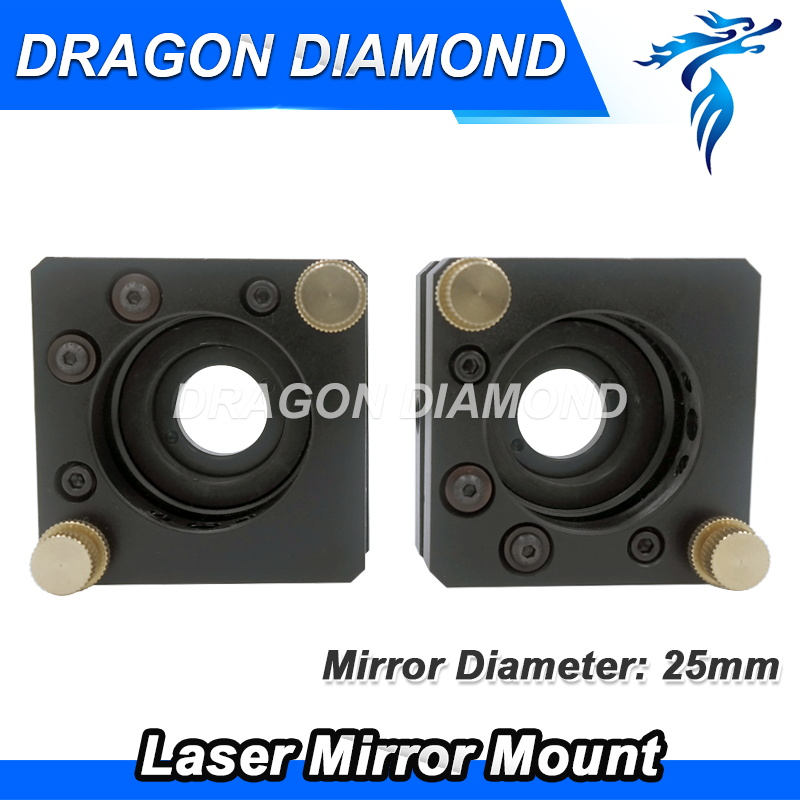 High quality Laser head mirror mount reflecting mirror Diameter 25mm for CO2 laser cutting engraving machine laser head engraving laser cutting head for 20mm laser focus lens 25mm laser mirror