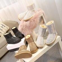 RUIYEE/женские сапоги, зимние сапоги, модные кожаные шлепанцы, новинка 2018 года, зимние женские сапоги, зимние сапоги
