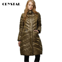 European Fashion 2016 Women Winter Down Jacket Medium Long Thick Parka Coat with Hood Ultra Large Outwear Female 4XL  ZY14041L