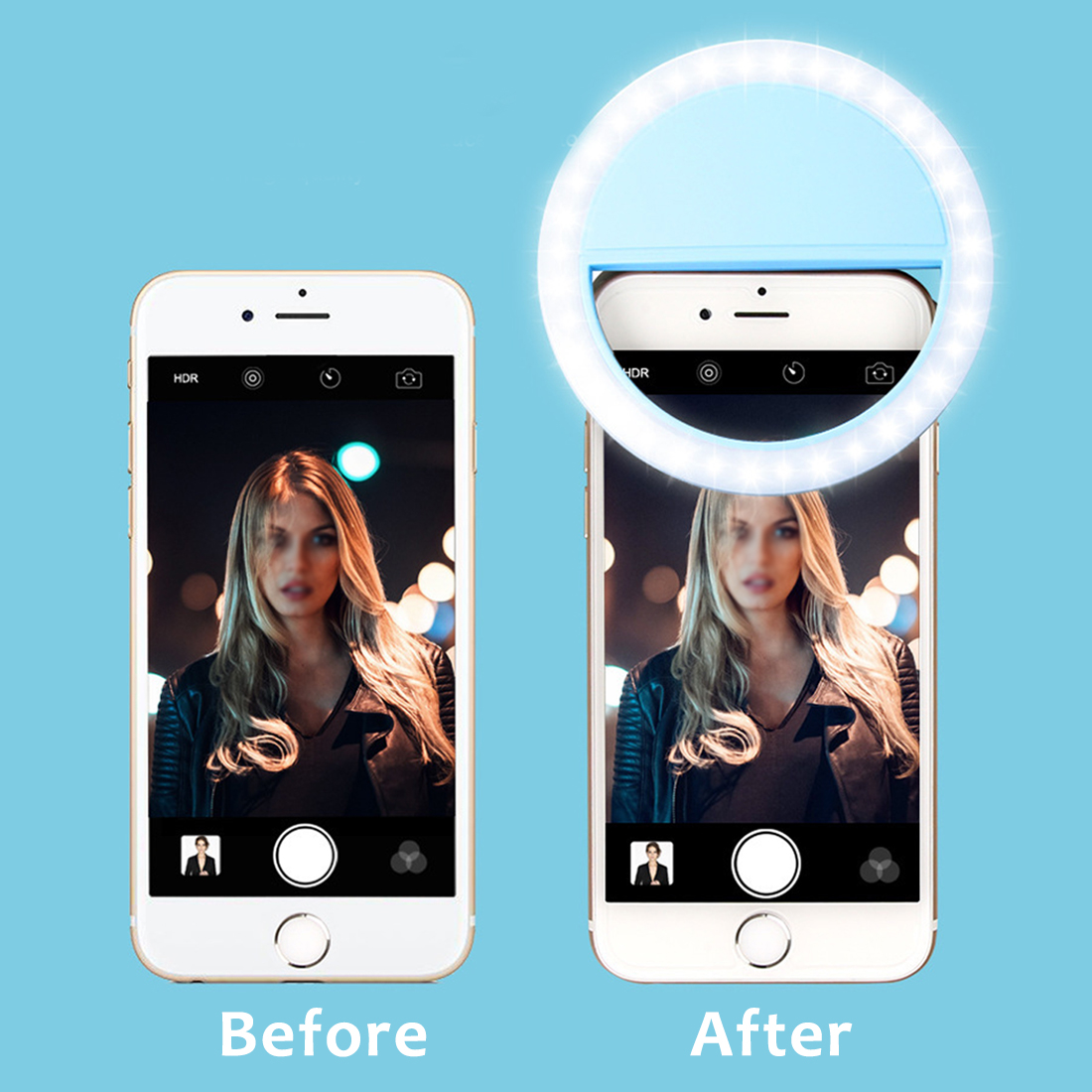 Beauty Live Selfie Artifact Photo LED FlashLed Light Lamp External Photography Round Self-timer Lamp Mobile Phone Fill Light