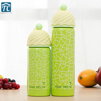 300ml/ 350ml Fruit Ice Cream Water Bottle Stainless Steel Sport Bicycle Portable Vacuum Flask Camping Climbing Outdoor Drinkware