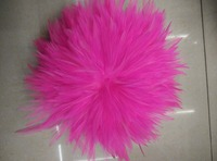 EMS Free Shipping 0.5KG Pink Hackle Feather Trim 15 20cm 6 8 Rooster feather Trimming Cock Fringe For Costume Wholsale