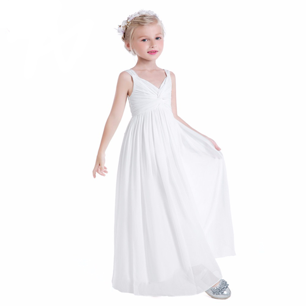 Floor Length Appliques Flower Girl Dresses A-Line Kids Wedding Pageant Party Gowns Chiffon Mother Daughter Dresses For Girls chiffon girls formal wedding dress flower girl evening dresses floor length kids graduation gowns children floral pleat costume