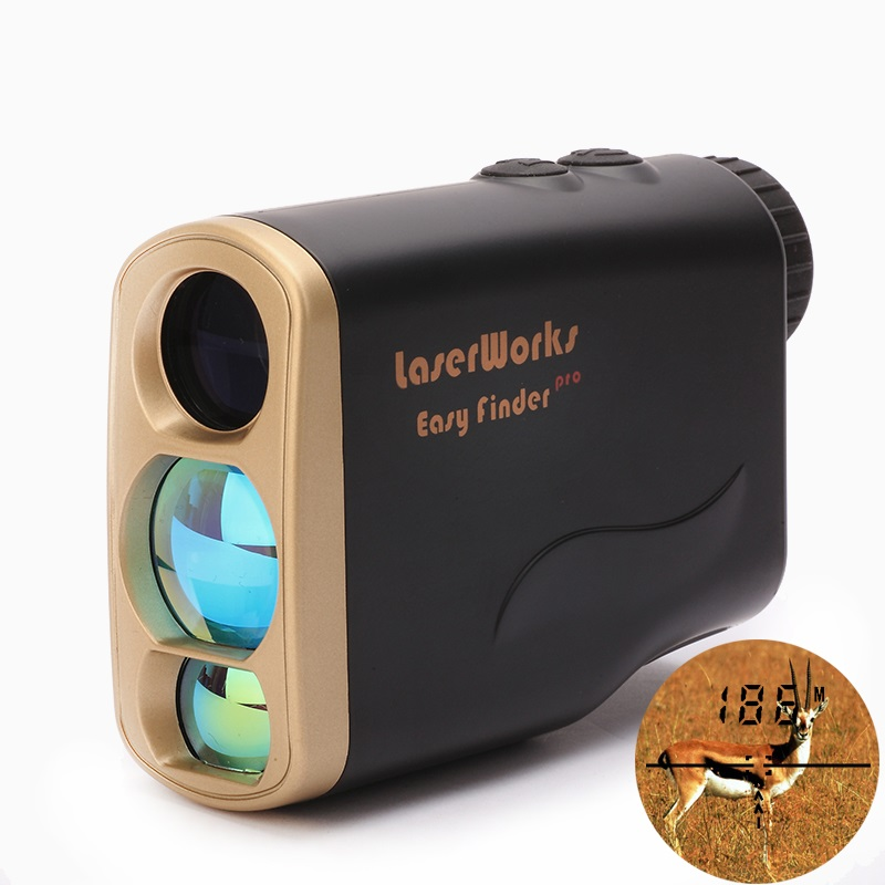 Waterproof Multifunction Hunting Golf Laser Distance Meter Rangefinder 1000m with Speed Finder Angle Elevation Height Measure 1000m waterproof golf laser rangefinder ranging speed height angle measurement handheld distance meter with flagpole lock