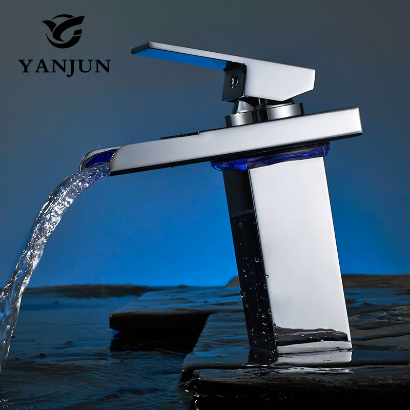 Yanjun Deck Mount Waterfall Bathroom Faucet Vanity Vessel Sinks Mixer Tap Cold And Hot Water Tapr YJ-6672 free shipping wholesale and retail deck mount waterfall bathroom faucet vanity vessel sinks mixer tap cold and hot water tap