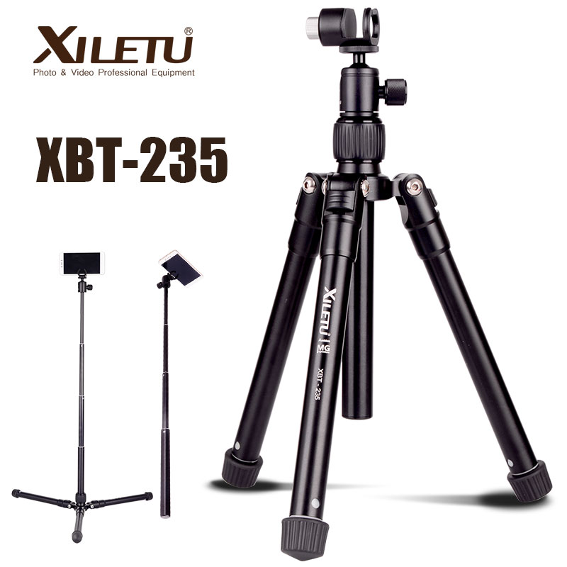 XILETU XBT 235 3in1 Extension Selfie Stick and Mini Tripod Stand With Phone Holder for Smartphone