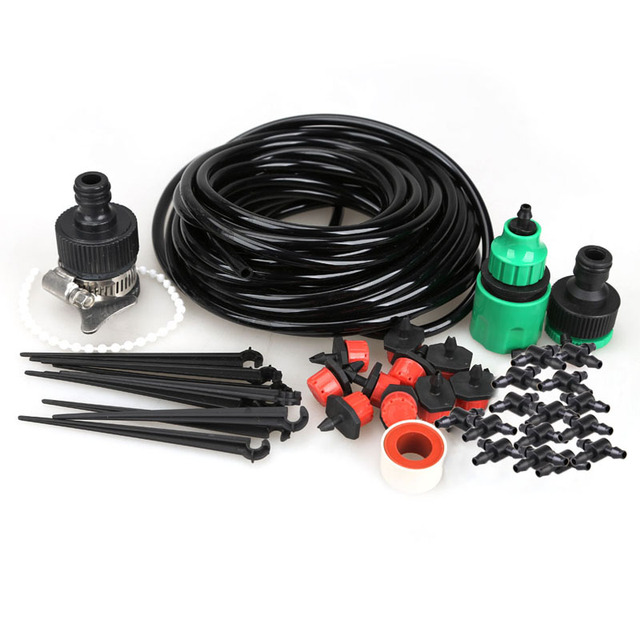 DIY Micro Drip Irrigation System Automatic Self Watering Garden Irrigation in Watering Kits Misting Micro Flow Dripper Drip