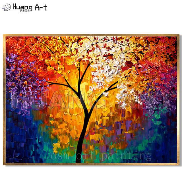 Hohe Fahigkeit Handgemachte Wand Dekorative Bunte Leben Von Baum