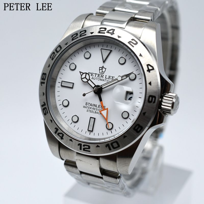 PETER LEE Brand Luxury Automatic Mechanical Watch Classic Dial 42mm Full Steel Watch Men Waterproof Male Innrech Market.com