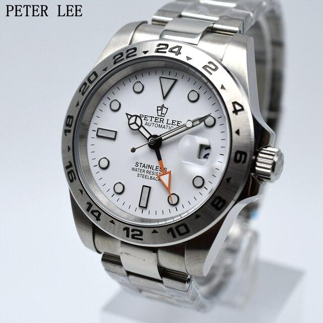 be34a364a7a2 PETER LEE de la marca de lujo de mecánico automático Reloj clásico Dial  42mm reloj de