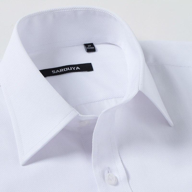 Mens Luxury Französisch Manschette Solid Dress Shirts Spread Kragen - Herrenbekleidung - Foto 3