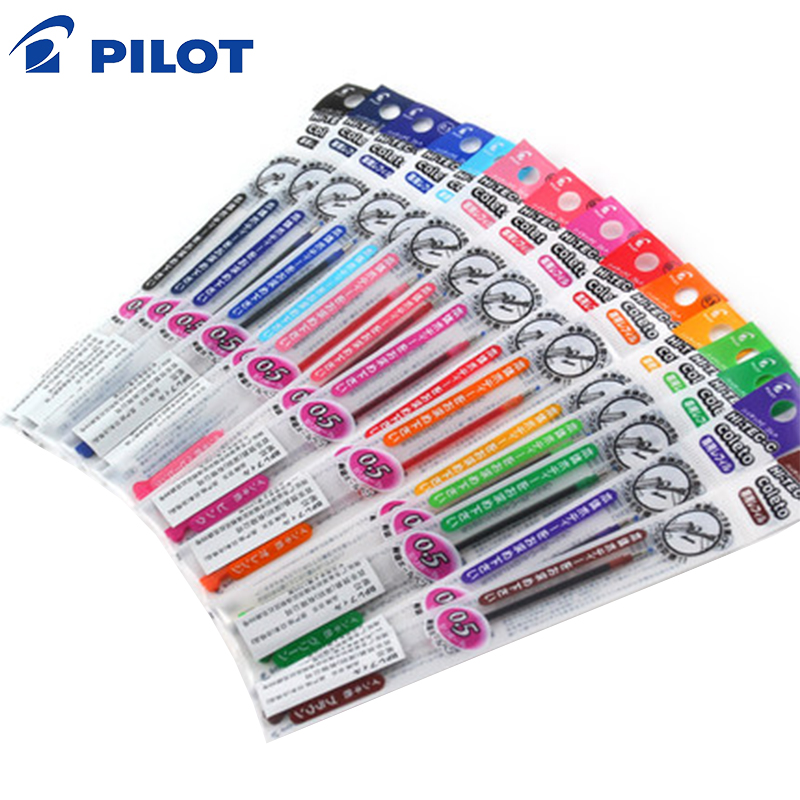 2019 PILOT HI-TEC-C COLETO Super Thin 0.4mm Refills For Ultra-fine Change Core Pen Gel Multi Pen Refills 15 Colors Set