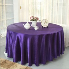 10pcs Purple 120 Inch Round Satin Tablecloths Table Cover For Wedding Party  Restaurant Banquet Decorations