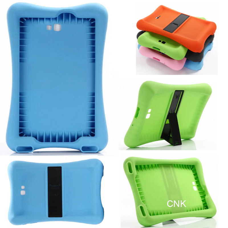 SM-T585 T580 Shock Proof Soft Silicone Rubber Case For Samsung Galaxy Tab A A6 10.1 2016 T580 T585 Case Cover Tablet Stand Funda heavy duty silicone hard case cover protector stand tablet for samsung galaxy tab a a6 10 1 2016 t585 t580 sm t580 stylus