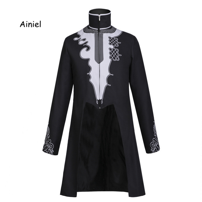 Ainiel Black Panther Jacket Cosplay Costume Superhero Coat T'Challa Black Jacket Halloween Fancy Clothes Carnival Suit Adult Men