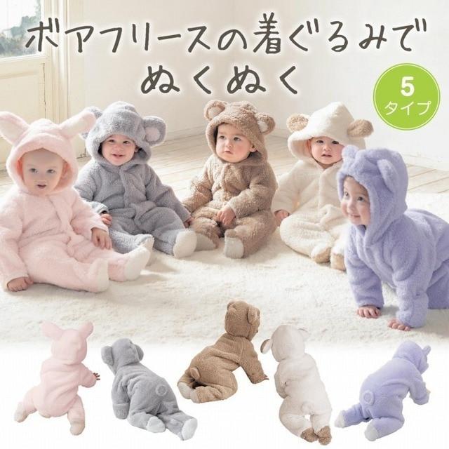 98165f6f7 Newborn Baby Clothing Cute Winter Warm Longsleeve Coral Fleece ...