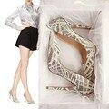 2016 Nueva Llegada de La Manera Hermosa Clear Rhinestone Boda zapatos de Cuentas de Alta Calidad de Las Mujeres Delgadas de tacón alto Zapatos de Las Señoras