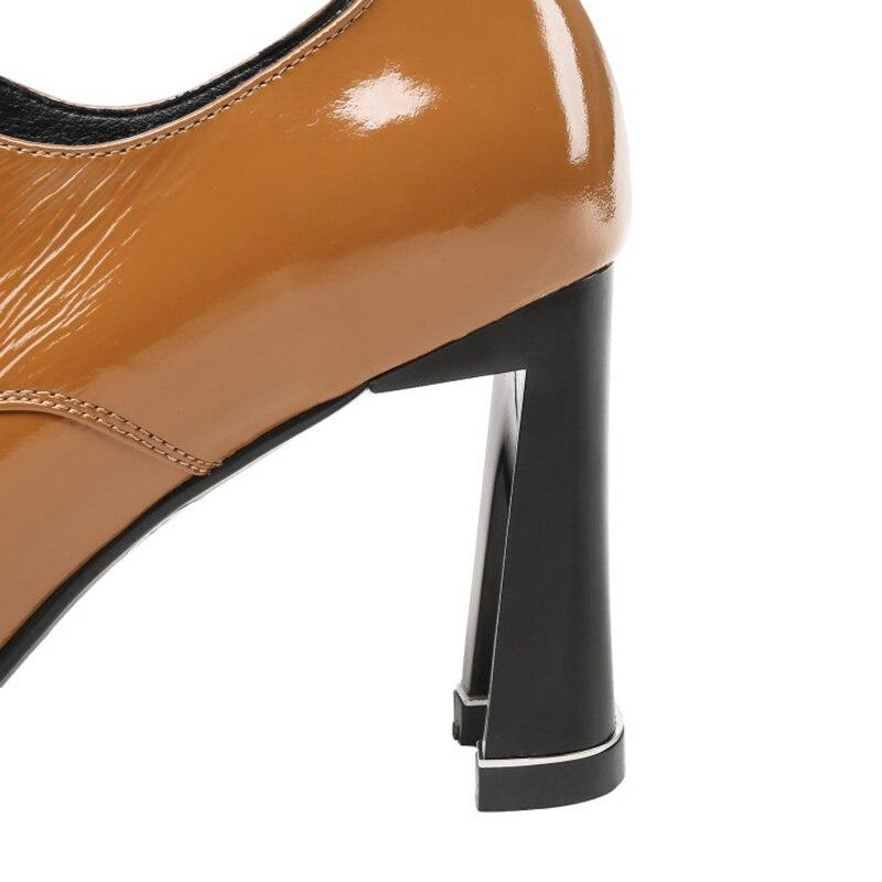 Brun Croix Noir Enmayer 43 Peu Pointu Hauts Talons Profonde Femme Lacets 34 Pompes Dames Bureau Bout cravate Pour marron Chaussures Grande Noir Taille À 5q4nqH6